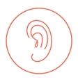Human ear line icon vector image