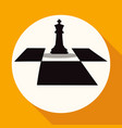 icon chess on white circle with a long shadow vector image vector image