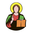 jesus christ icon cartoon vector image vector image