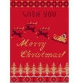 Knitted Sweater card vector image