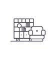 living room line icon concept living room vector image vector image