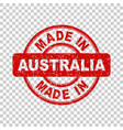 made in australia red stamp on isolated background vector image vector image