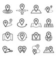 map pins related icon set symbols isolated vector image vector image