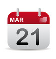 march calendar stand up vector image vector image