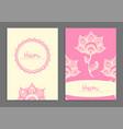mehndi flowers vector image vector image