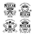 mexican style set four emblems labels vector image vector image