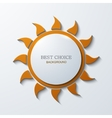 modern sun icon background on white vector image vector image