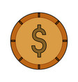 money coin isolated vector image