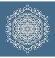 Outlined Mandala Background for greeting card vector image vector image