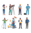 people different occupations and professions vector image vector image