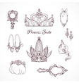Princess design elements vector image vector image