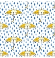 Rain drops and umbrella seamless pattern Hand vector image
