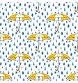 Rain drops and umbrella seamless pattern Hand vector image vector image