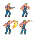 Red Neck Knife Attack Sprite vector image vector image