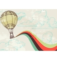 Retro hot air balloon vector | Price: 1 Credit (USD $1)