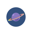 Saturn icon planet icon vector image