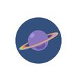 Saturn icon planet icon vector image vector image