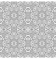 seamless doodle pattern black and white vector image vector image