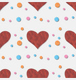 seamless pattern with plasticine heart clay vector image vector image
