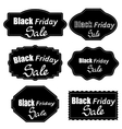 Set of Different Dark Stickers vector image vector image