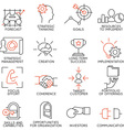 Set of icons related to business management - 2 vector image vector image