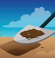 shovel digging vector image vector image