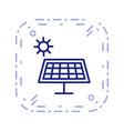 solar energy icon vector image vector image