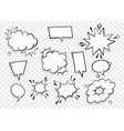 speech bubble for comic text isolated background vector image