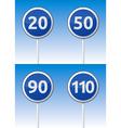 Speed traffic road board vector image