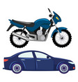 sport car and motorbike vehicle transport vector image vector image