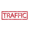 stamp text traffic vector image