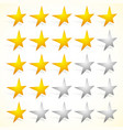 star rating element with perspective on stars vector image vector image