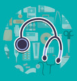 stethoscope medical supply healthcare vector image