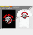 t-shirt template fully editable with dog vector image vector image
