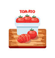 tomato flat design vector image vector image