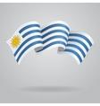 Uruguayan waving Flag vector image