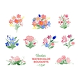 watercolor floral bouquets vector image vector image