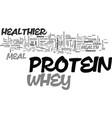 whey healthier protein meal text word cloud vector image vector image