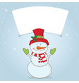 winter label with Christmas motifs vector image vector image
