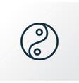 yin yang icon line symbol premium quality vector image