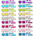 set of glass buttons 2 vector image