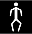 a man with crooked legs the white color icon vector image