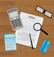 accounting tax paying vector image vector image