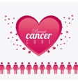 Against breast cancer campaign vector image vector image