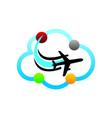 airport hub logo design template vector image vector image