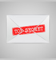 an envelope with a warning sign vector image vector image