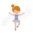 ballet little girl dancing with stars decoration vector image vector image