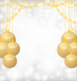 balls gold bead vector image vector image