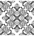 baroque black and white seamless pattern damask vector image vector image