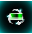 Battery with recycle arrows vector image